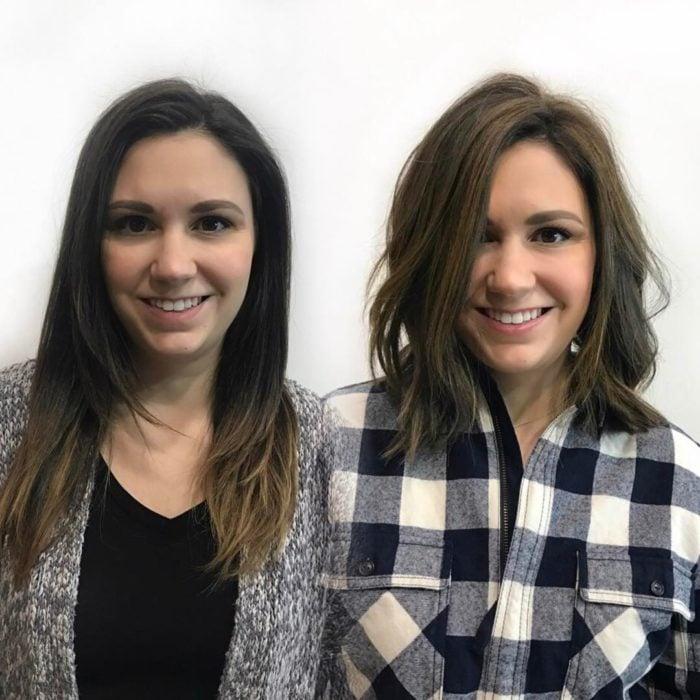 cambio de look chica cabello corto antes y después