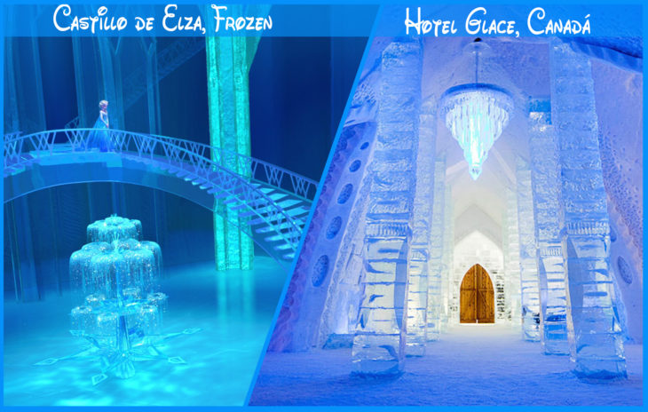 castillo de frozen real y de disney