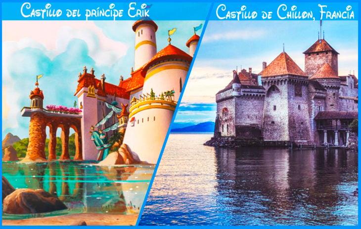 castillo del príncipe erik real y de disney