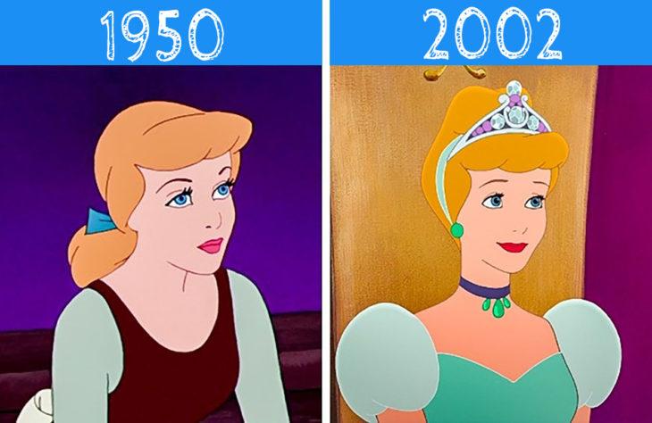 cenicienta antes y después