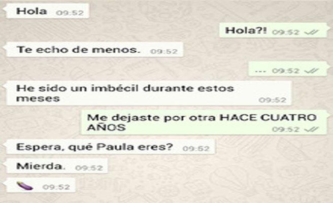 conversación equivocada whatsapp