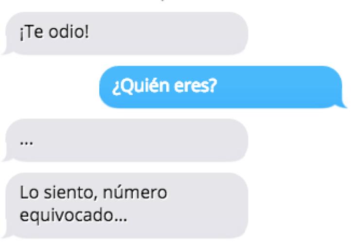 inbox mensaje número equivocado