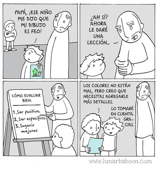 comic sobre críticas constructivas