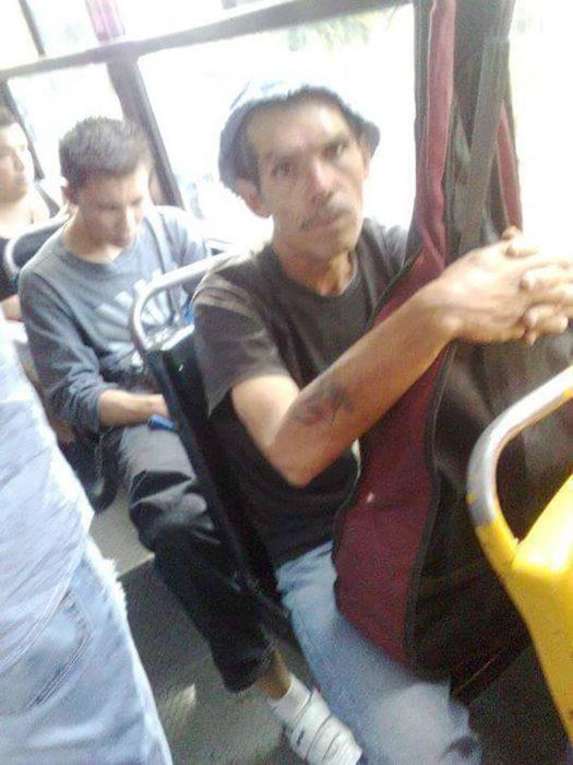 don ramón en el transporte público
