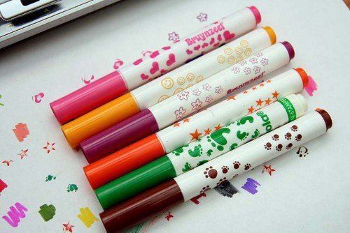 marcadores con dibujitos