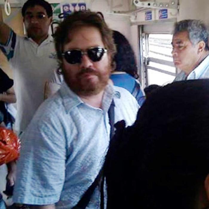 zach galifianakis en el transporte público