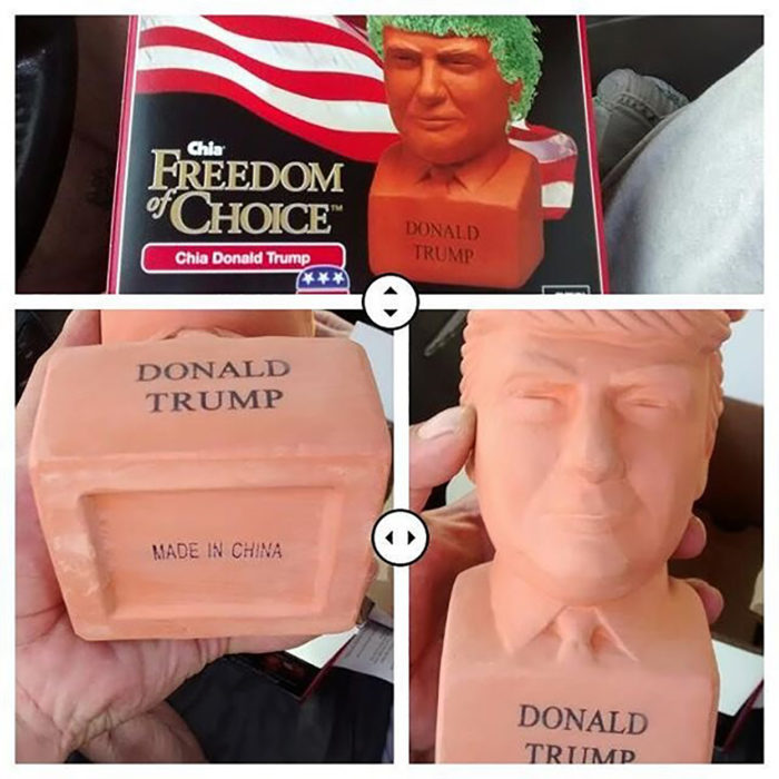 busto de donald trump hecho en china