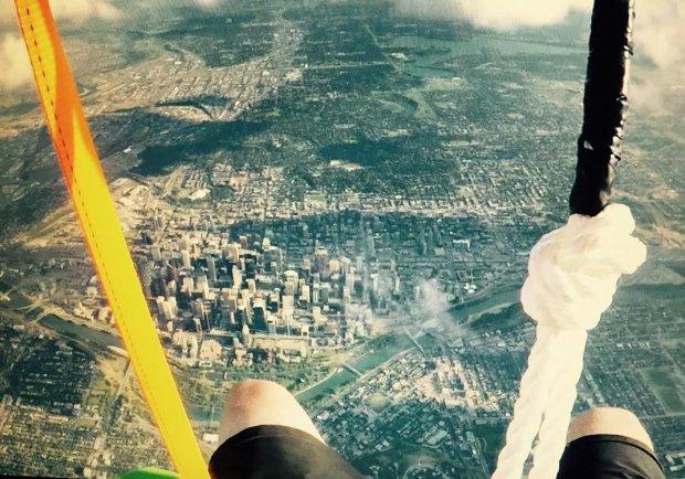 vuelo en globos vista aérea