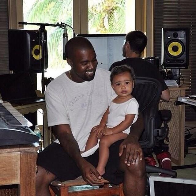 kanye west con su hija