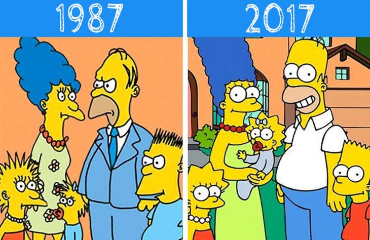 los simpson antes y después
