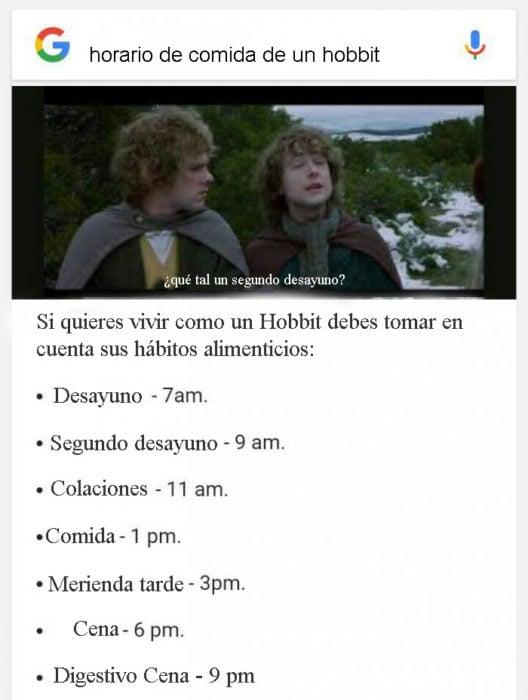 memes hambre hobbit