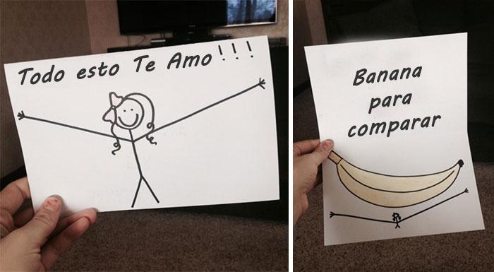 msj amorosos fail banana