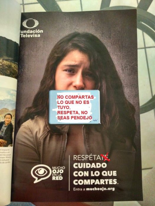 cartel de sexting de televisa modificado por luis reséndiz