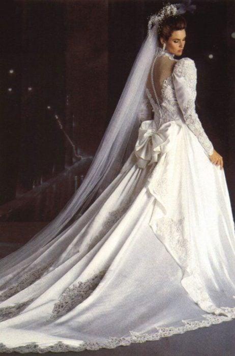 vestido de novia 80's