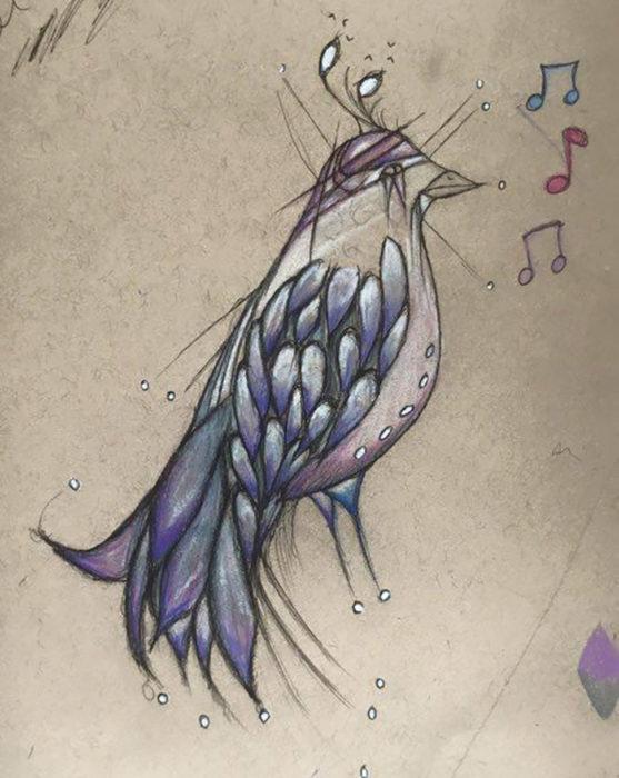 dibujo de un pájaro