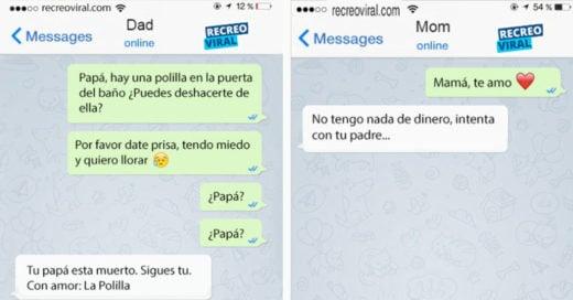 Cover Divertidos mensajes de texto entre papas e hijos