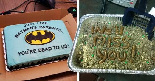 Cover pasteles de despedida que recibieron los empleados su último día de trabajo
