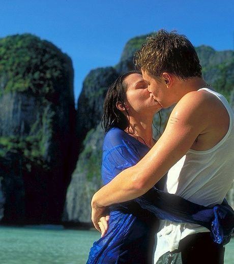 Leonardo DiCaprio y Virginie Ledoyen