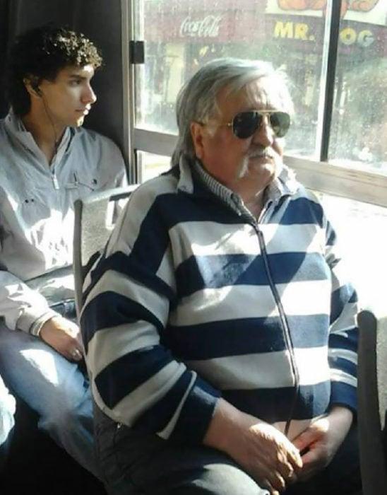 Pepe Mujica en el transporte público