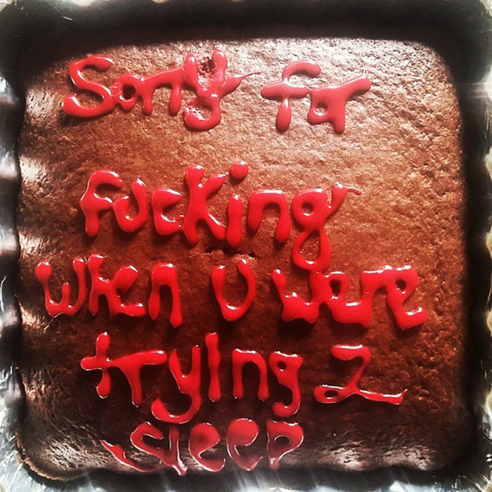 pastel que dice perdón por tener sexo mientras tratabas dormir