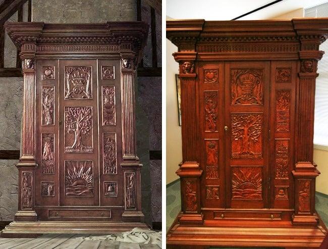 armario de narnia antes y después