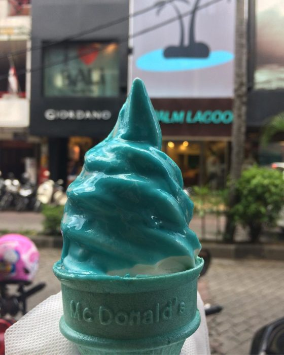 helado sabor pitufo