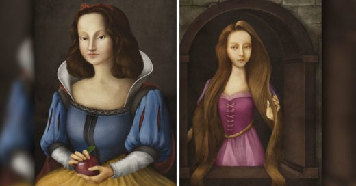 Cover Princesas de Disney dibujadas como retratos renacentistas