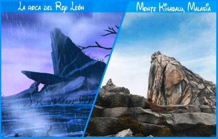 la roca del rey león real y de disney