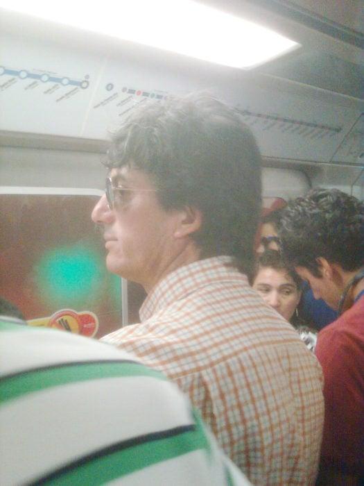 Rocky en el transporte público