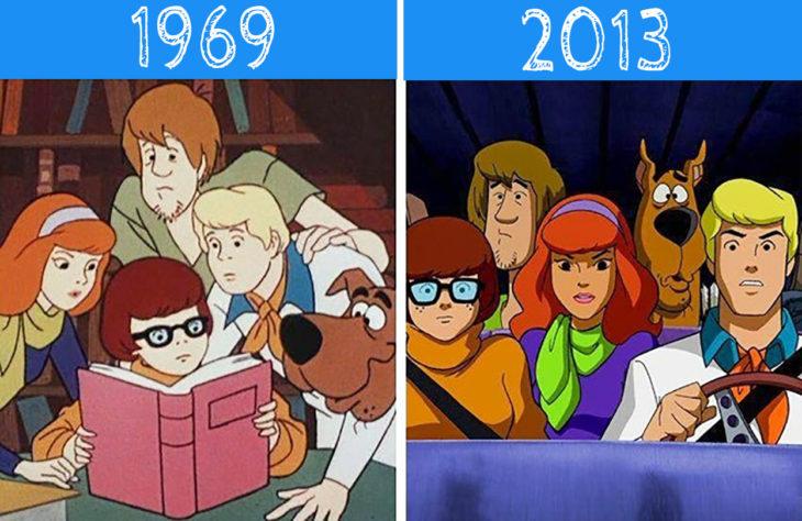 Scooby Doo antes y después