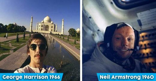 Cover selfies de famosos antes de que existieran los smartphones