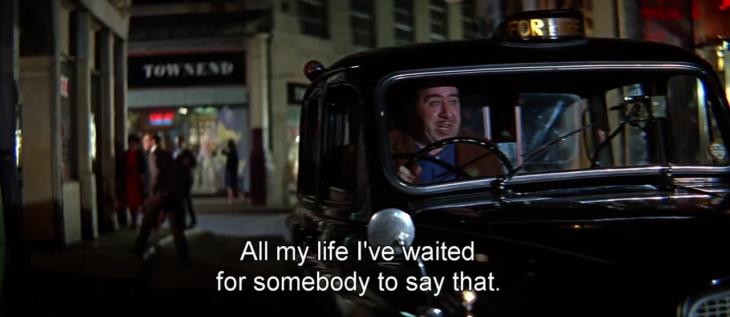 conductor de taxi antiguo