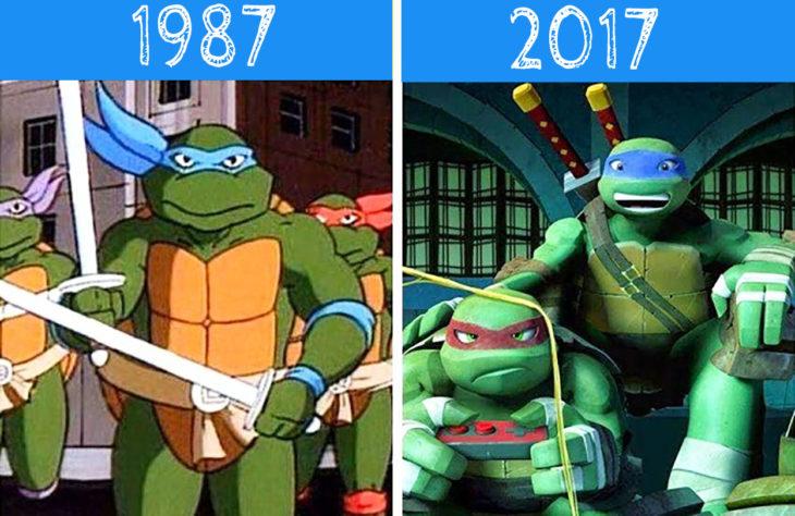 tortugas ninja antes y después
