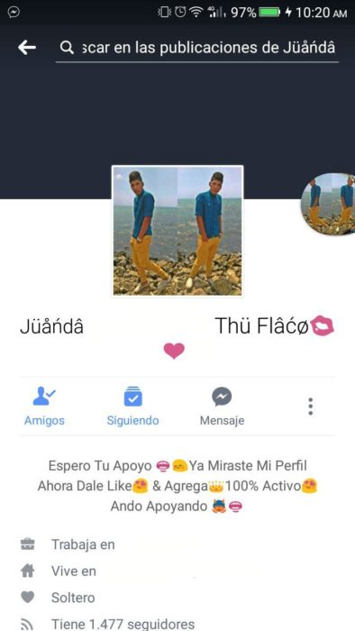 perfil facebook chico
