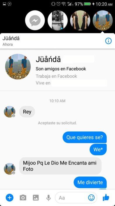 amigos facebool conversación