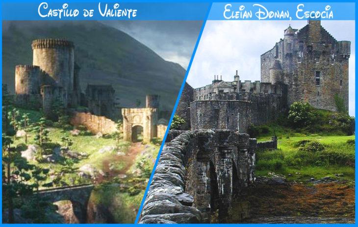 castillo de brave real y de disney