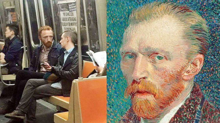 Van Gogh en el transporte público