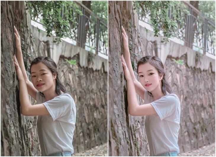 Fotos antes y después del Photoshop