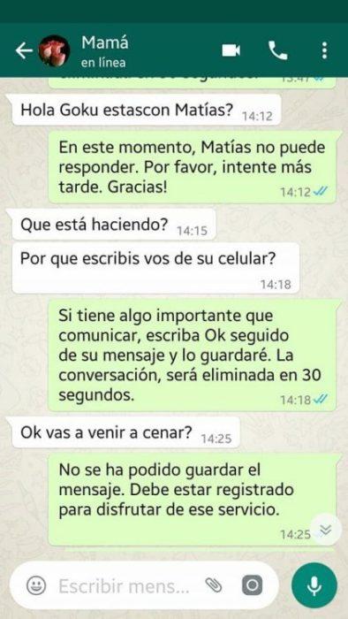 Whatsapp hijo troleó a su mamá - si tiene algo importante que comunicar