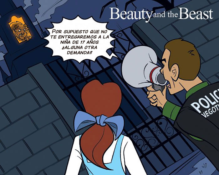 la bella y la bestia comic