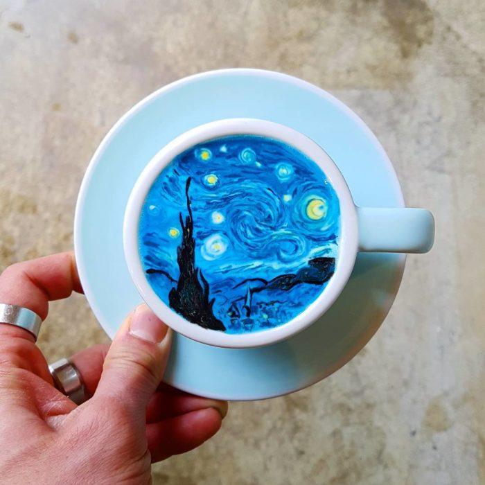obras en el café