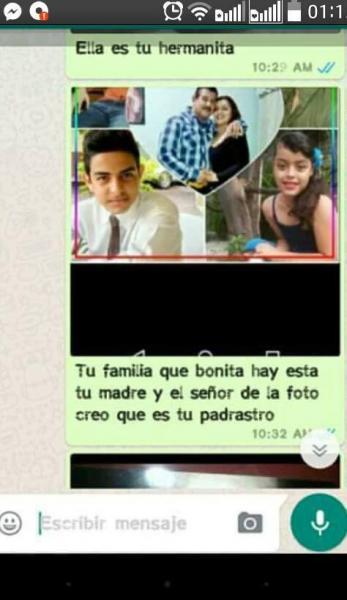 Chantaje WhatsApp - tu familia qué bonita
