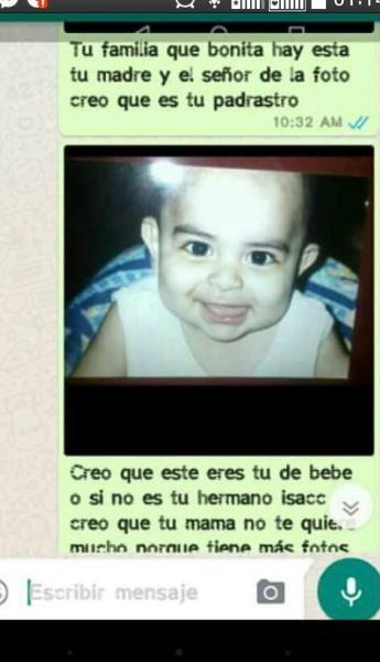 Chantaje WhatsApp - este eres tú de bebé