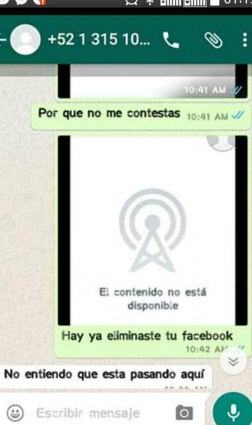 Chantaje WhatsApp - eliminaste tu facebook