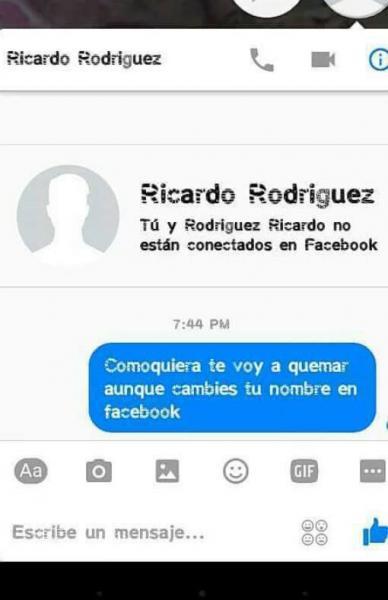 Chantaje WhatsApp - Ricardo Rodríguez facebook