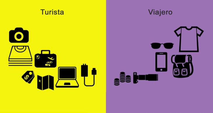 diferencia viajero y turistas gadgets