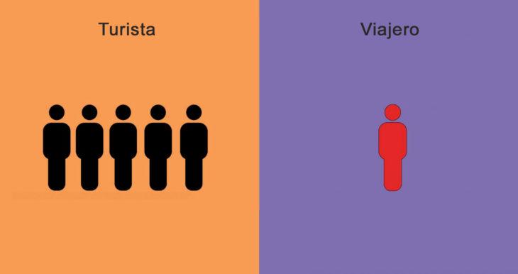 viajero y turista en grupos o individuales