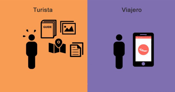 diferencia viajeros y turistas preparación