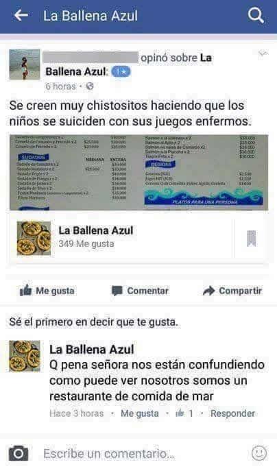 ESTAS PERSONAS SE EQUIVOCARON DE BALLENA AZUL