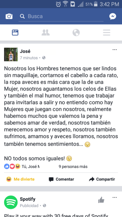 HOMBRES LINDOS SIN MAQUILLAJE
